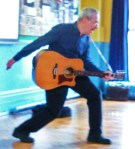 Photo Bernard playing guitar
