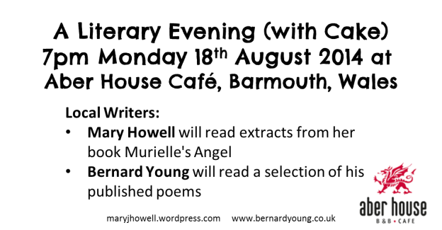 Literary Evening advert Aber House Cafe