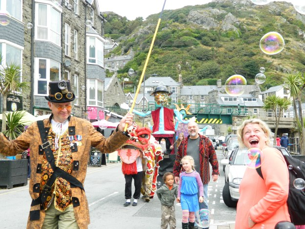 Parade along Barmouth Harbour