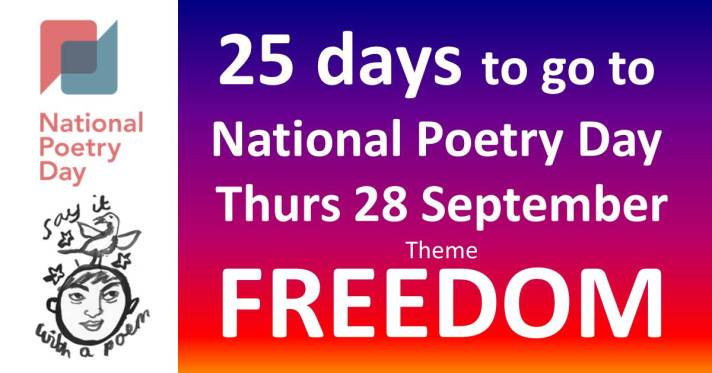 National Poetry Day 2017 25 days to go Bernard Young