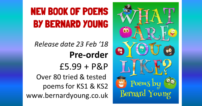 Promotion of 'What Are You Like?' Poetry by Bernard Young