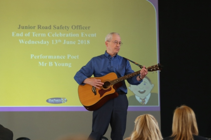 Bernard on Guitar at JRSO Event Durham 2018