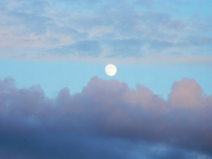 Moon and clouds decorative